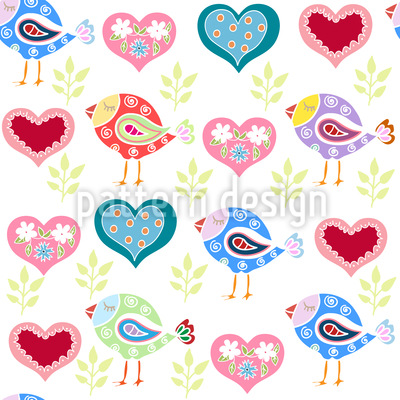 Liebe Vögel Vektor Design