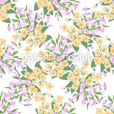 Romantisches Mille Fleurs Musterdesign