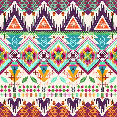 Aztec Tribal Art Repeat Pattern