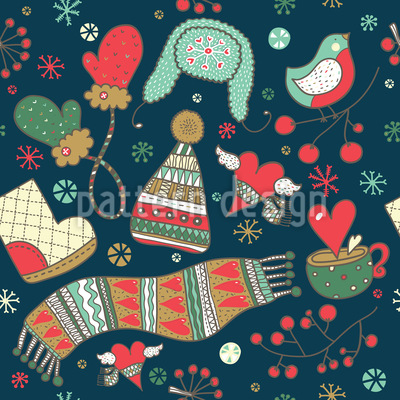 How To Get Through The Winter Seamless Pattern