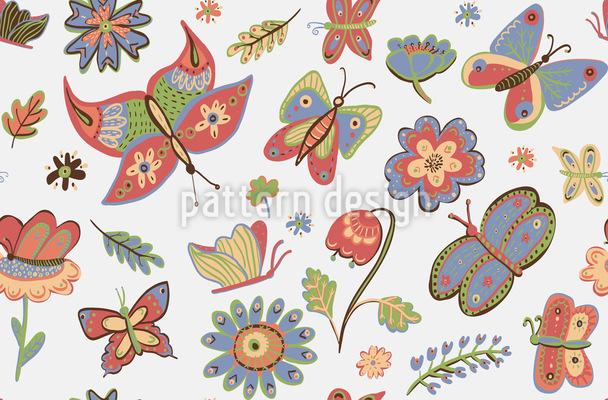 Busy Butterflies Vector Ornament