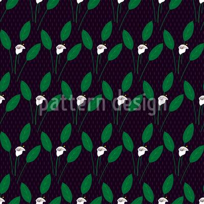 Calla At Night Seamless Vector Pattern