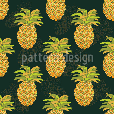Ripe Pineapples Vector Pattern