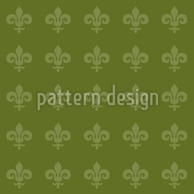 Fleur De Lys Green Vector Design