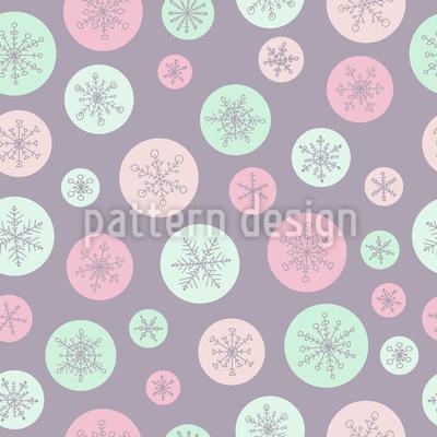 Schneeflocke In Einer Blase Muster Design