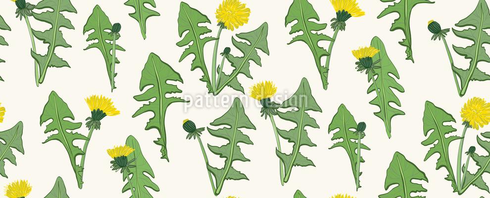 Löwenzahn Blume Nahtloses Muster
