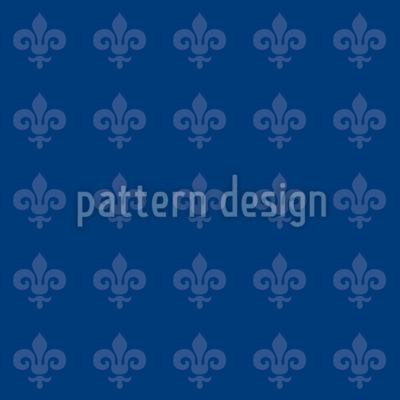 Fleur De Lis Blau Rapportiertes Design