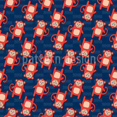Monkey Times Repeat Pattern