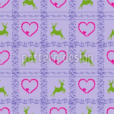 A Deer Romance Seamless Pattern
