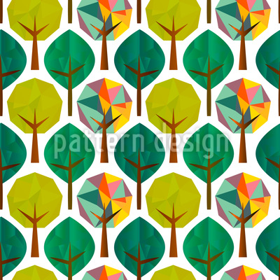 Geometrische Bäume Rapportiertes Design