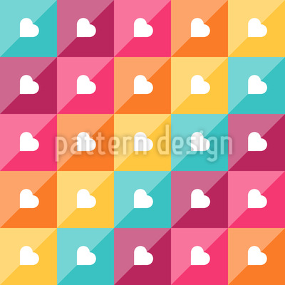 Hearts Of Diagonal Vector Ornament