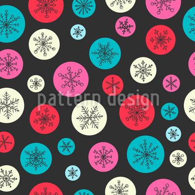 Snowflake Bubbles Pattern Design