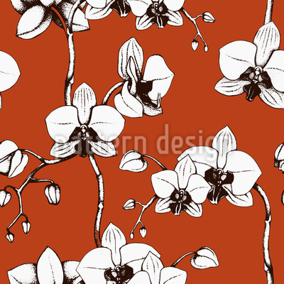 Blood Orchid Seamless Pattern