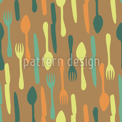 Retro Look Cutlery Vector Ornament