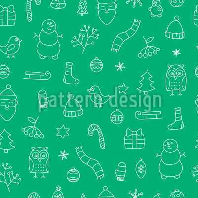 Merry Christmas time Seamless Pattern