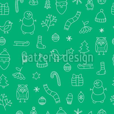 Schöne Weihnachtszeit Nahtloses Muster