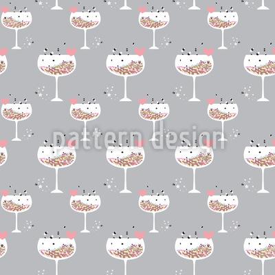 Hexagon Cocktail Für Verliebte Vektor Muster