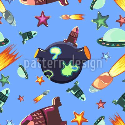 Weltraum Reisende Vektor Muster
