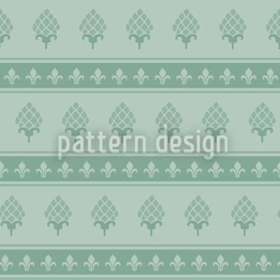 Die Bourbon Lilie Mint Nahtloses Vektor Muster