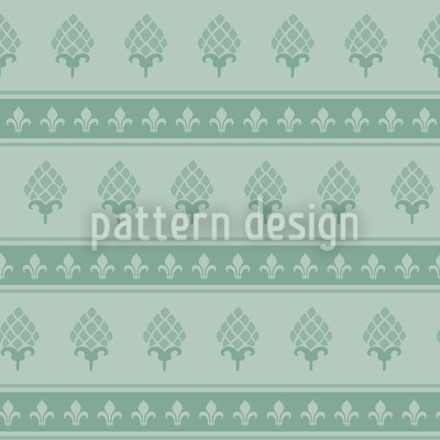 The Bourbon Lily Mint Seamless Vector Pattern