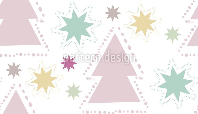 Weihnachtsbaum Glitzern Nahtloses Vektor Muster