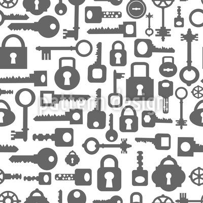 Schlüssel und Schloss Rapportiertes Design
