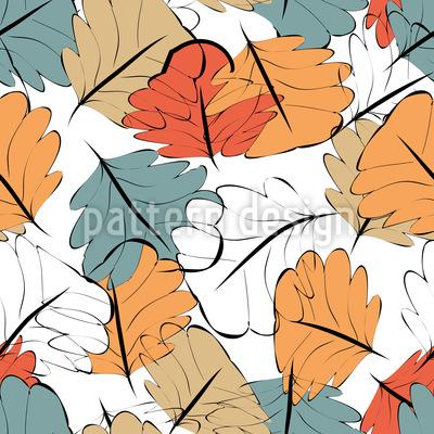 Glowing Autumn Seamless Pattern