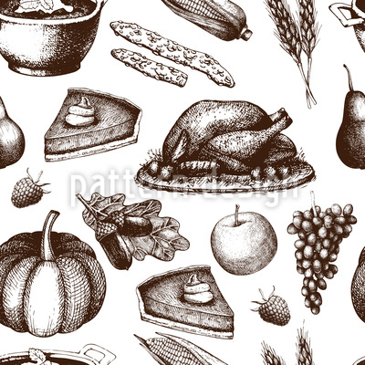 Thanksgiving Seamless Vector Pattern