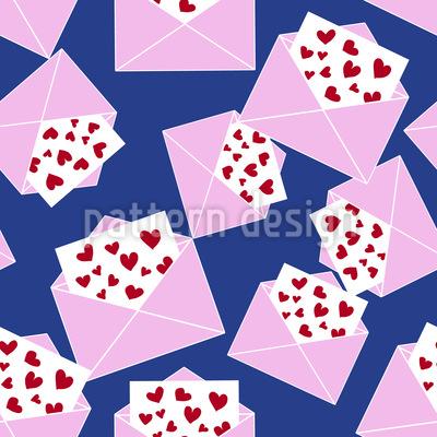 Noch Mehr Liebesbriefe Vektor Muster