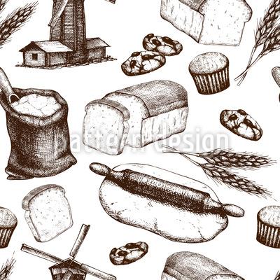 From Grain To Bread Vector Design
