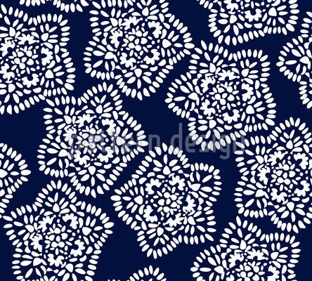 Schneeflocken Keksverzierung Nahtloses Muster