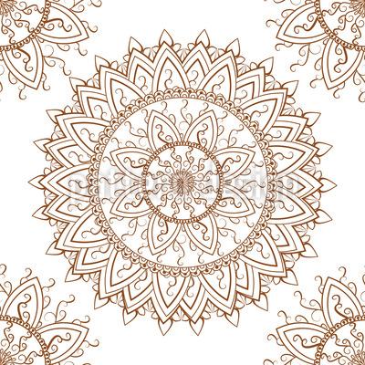 Lace Mandala Seamless Pattern