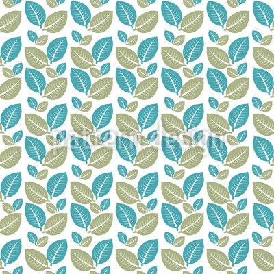 Leaf Twins Vector Pattern