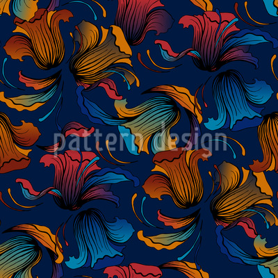 Dolores Blue Pattern Design