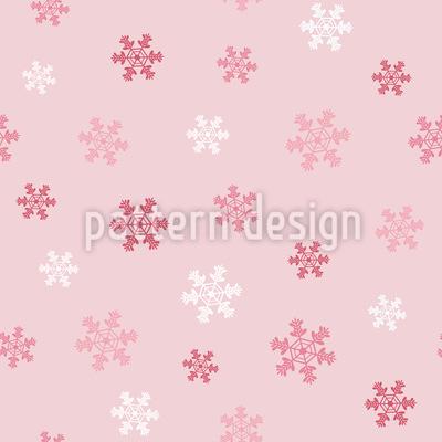Winter Snowflake Love Seamless Vector Pattern