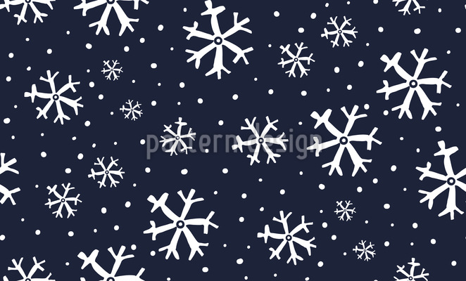 Snowy Night Repeat Pattern