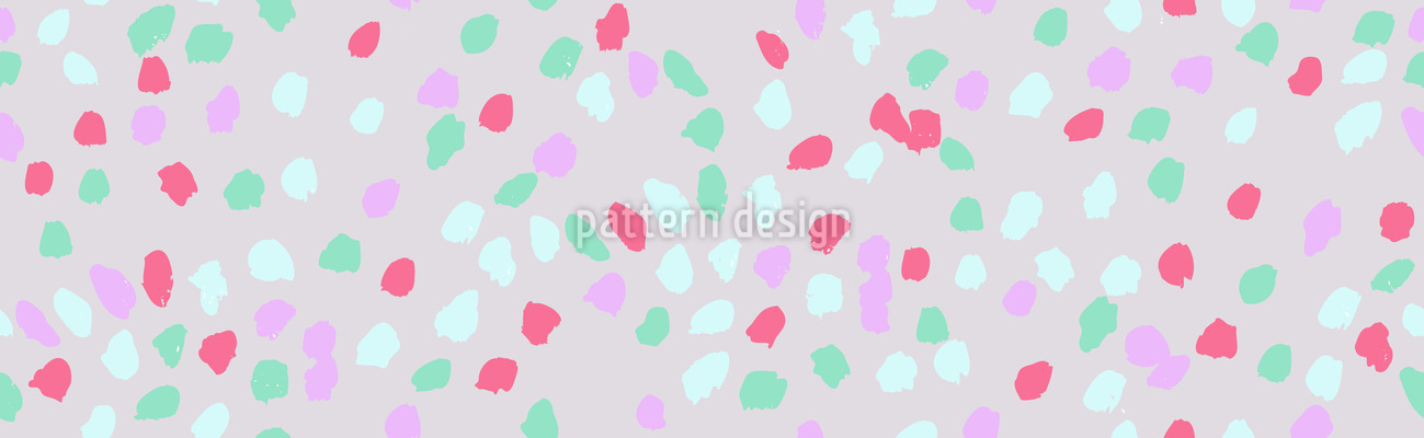 Gemalte Punkte Vektor Ornament